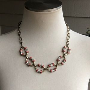 J Crew Necklace pink/Gold!